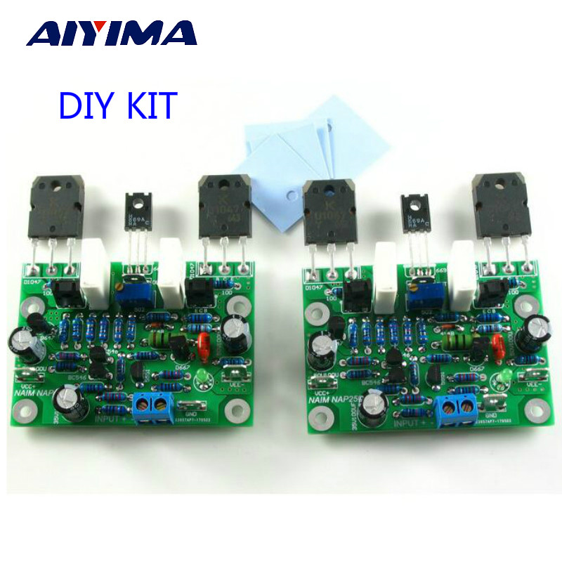 Aiyima 2PC NAIM NAP250 MOD Stereo Audio Amplifier Board Amplificador 80W DIY Kits 15V-40V