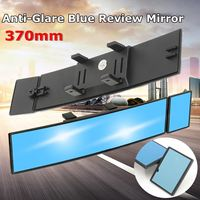 Car Rearview Interior Convex Flat Mirror Wide Angle Blue Glass Anti Glare Universal