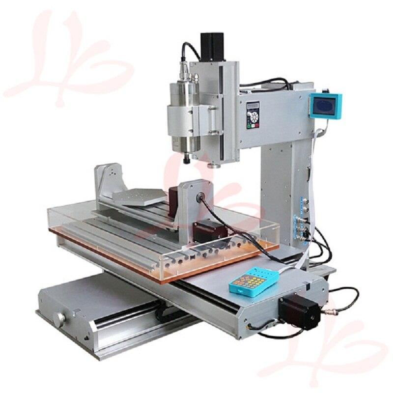 1500 W refroidi à l'eau broche 5 axes CNC routeur 3040 machine de gravure pour métal boule vis Table colonne Type menuiserie