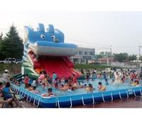 ПВХ надувные слайд с большой бассейн для развлечения от Шанхайский завод