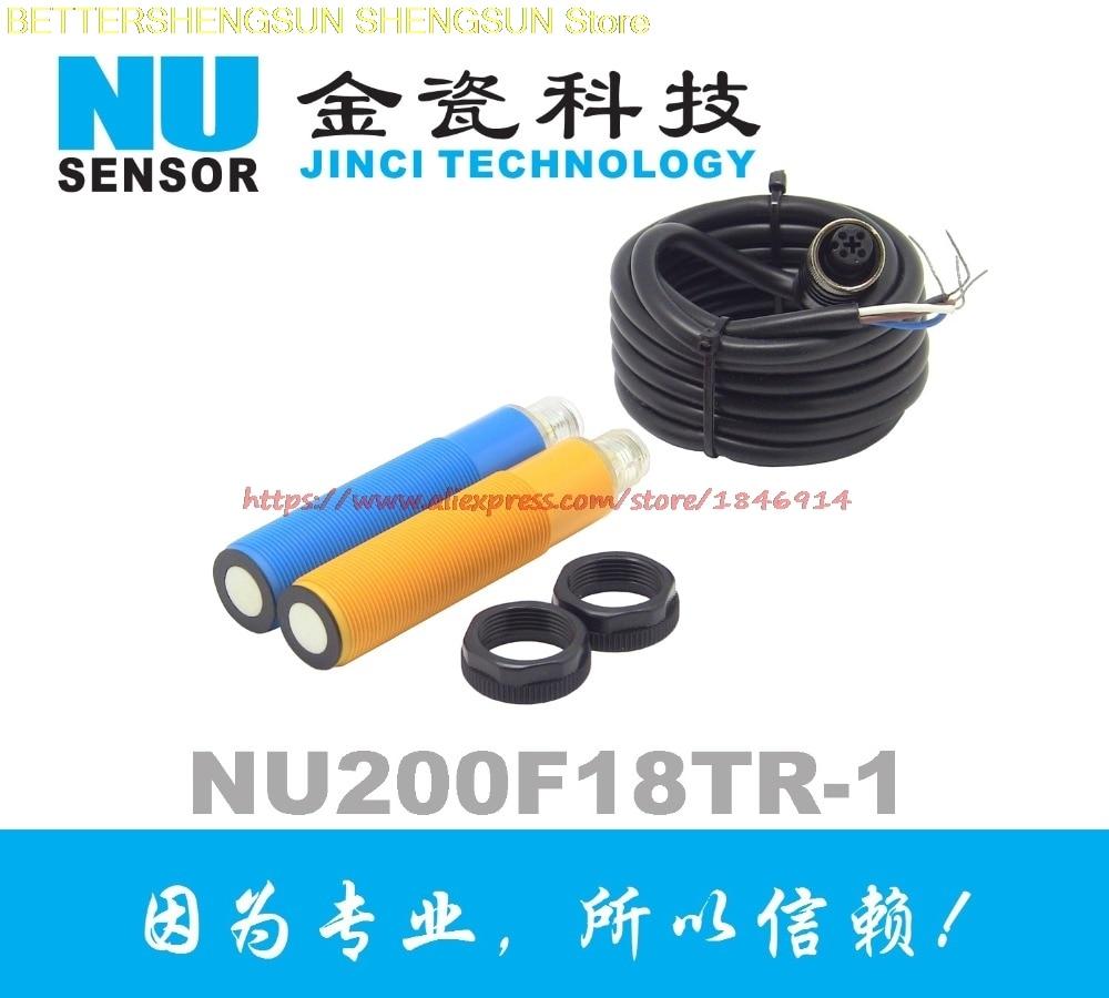 Waterproof type high precision M18 ultrasonic distance measuring sensor NU200F18TR 1MD