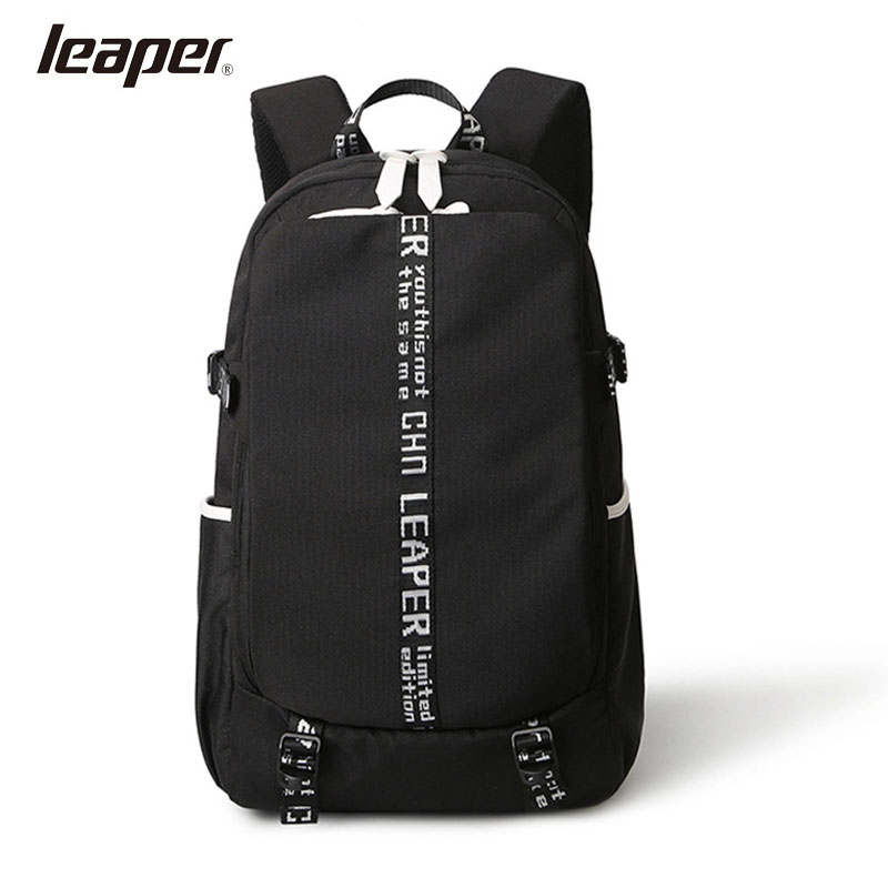 LEAPER Men's Bag Laptop Backpack College School Backpacks Oxford Rucksacks Leisure For Teenage Boys Mochila Male Travel Bags