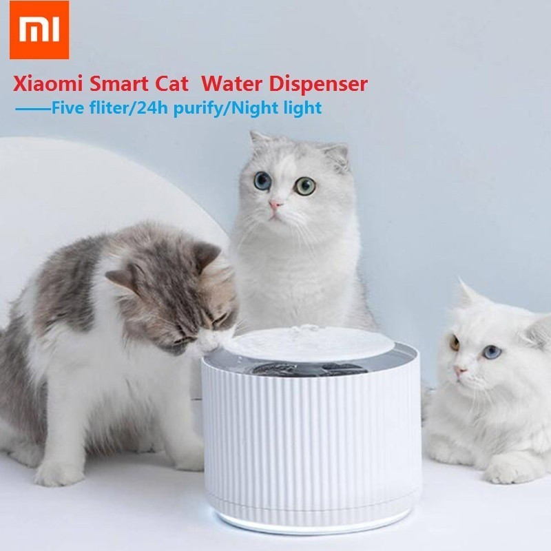 xiaomi Mijia Smart Cat Pet Water Dispenser Water Purifier 5 layer filter 360 Degree Open Drinking