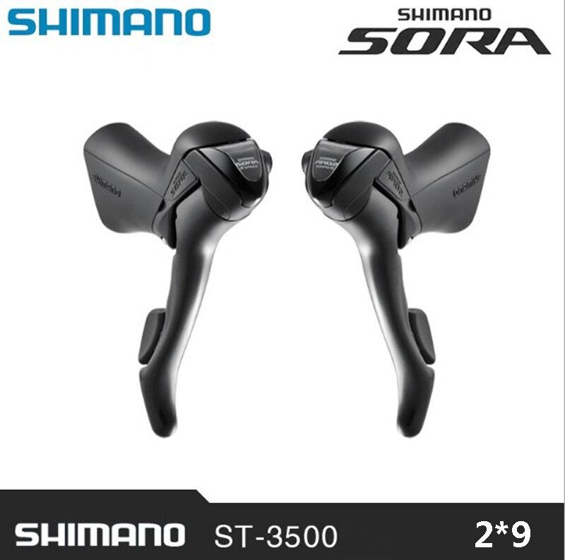 SHIMANO SORA ST-3500 2x9 vitesse frein changement de vitesse vélo double levier de commande dérailleur de voiture de route vélo pièces de rechange poignée de contrôle