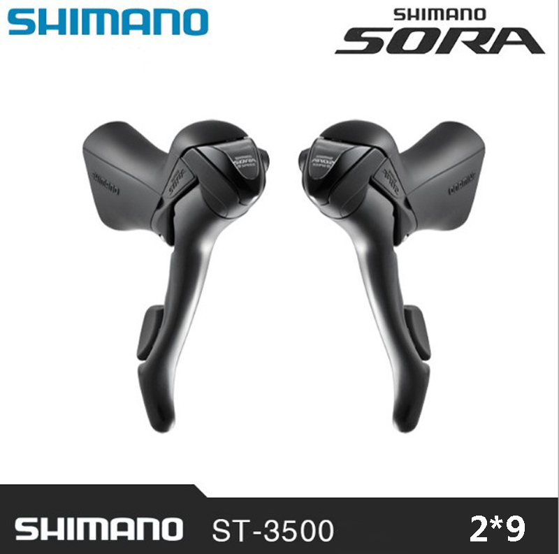 SHIMANO SORA ST-3500 2 x 9 speed brake shift bike double control lever road car derailleur bicycle spare parts Control handle 105 st 5800 2 x 11 speed brake shift bike dual control lever 1 pair