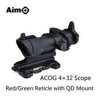 Aim-O ציד רובה ACOG 4x32 אכון היקף אדום/ירוק Reticle עבור אקדח אוויר עם הר 1 set AO5319