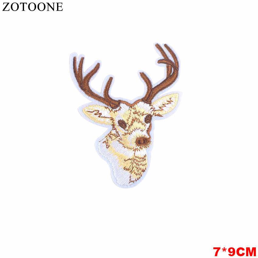 Zotoone Bunga Hewan Jantung Surat Makanan Kartun Patch Besi Pada Lencana Patch Bordir Bordiran Jahit Pakaian Patch Stiker B