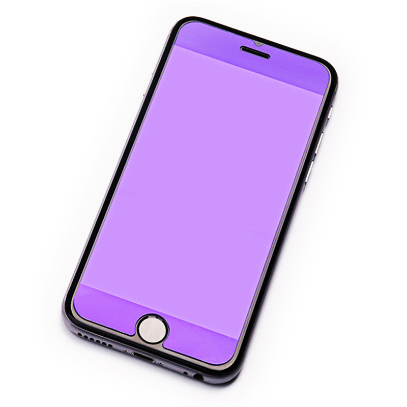 iPhone 8PLUS Eyecare Purple Screen Protector for iPhone 8 Xr Xs XsMax Tempered Glass and iPhone Full Series Screen Protector