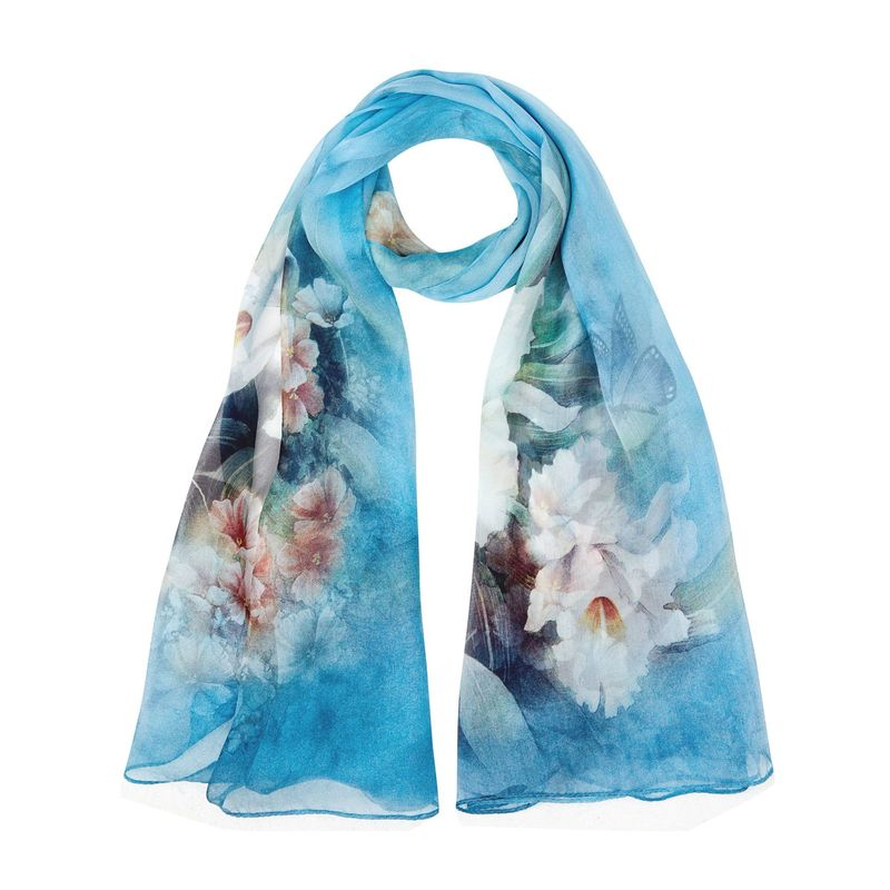 Image 5 - 2018 High quality 100% mulberry silk scarf natural real silk Women Long scarves Shawl Female hijab wrap Summer Beach Cover ups-in Women's Scarves from Apparel Accessories