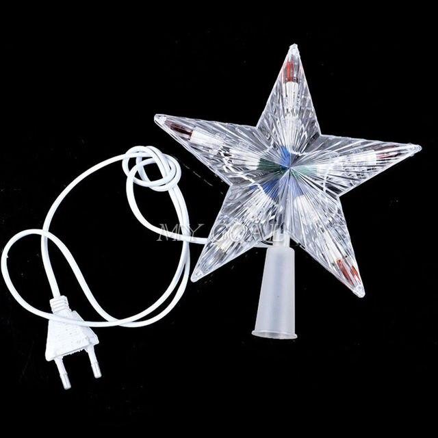 efdde2fe91e Nuevo 10 LED interior exterior árbol de navidad luces de la estrella de la  lámpara de