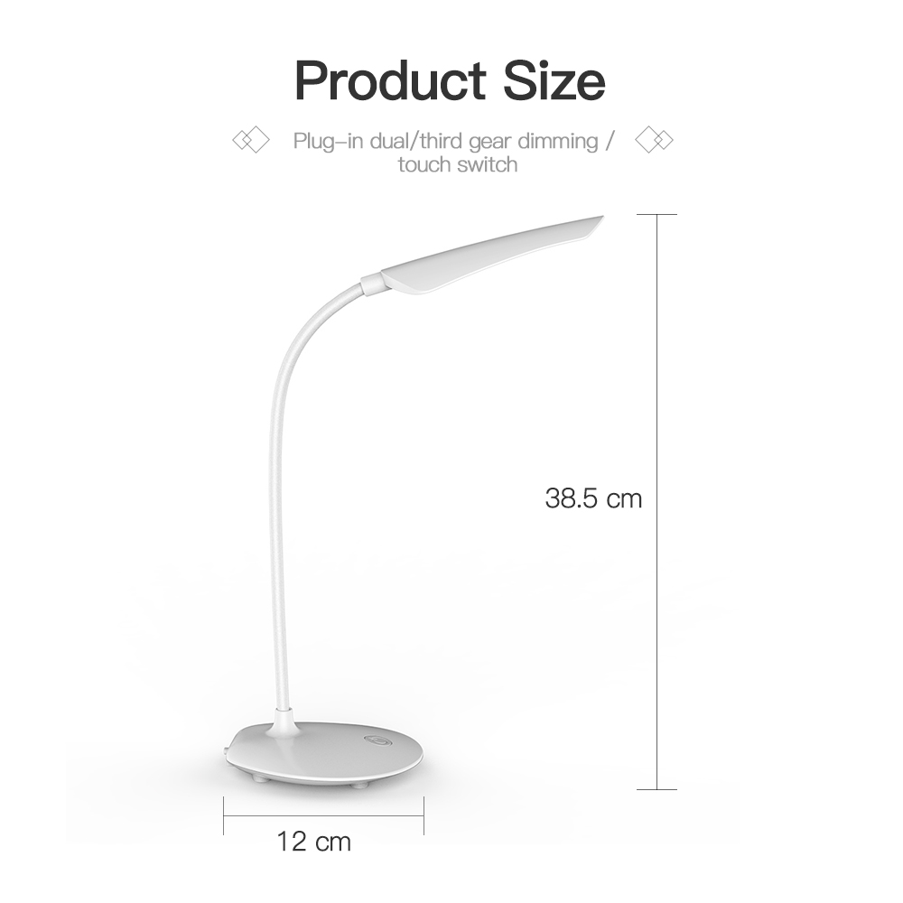 Desk Lamps High Quality Adjustable intensity USB Rechargeable 16LED Desks Table Lamp Reading Light Touch Switch Desk Lamps