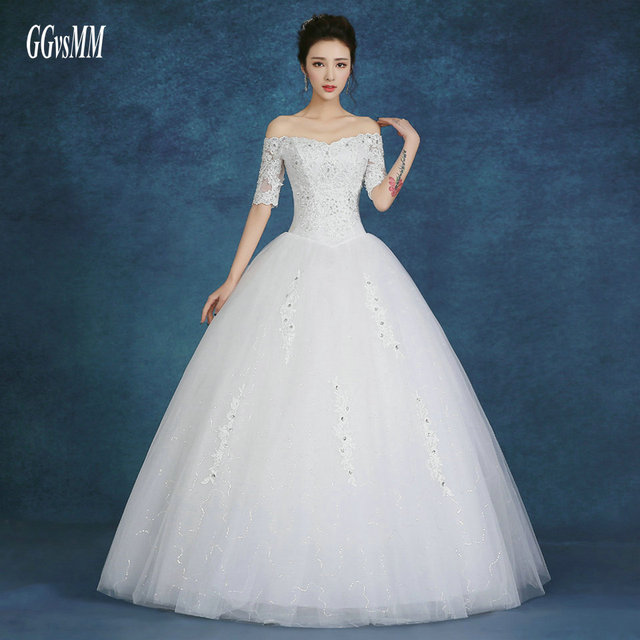 Aliexpress Buy Sexy Plus Size Wedding Dresses For Bride Gowns
