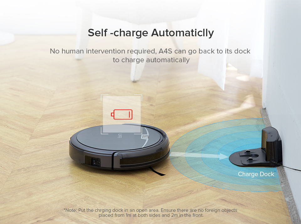 HTB1w5Oha6nuK1RkSmFPq6AuzFXad ILIFE A4s Robot Vacuum Cleaner Powerful Suction for Thin Carpet & Hard Floor Large Dustbin Miniroom Function Automatic Recharge