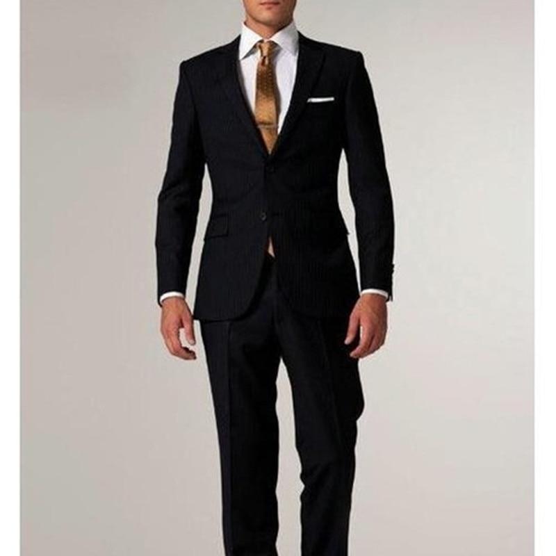 Custom Made latest coat pant Tuxedo formal Black Men Suit Tailored Mens Groom suits costume homme Slim Fit Patterned Groom Suits