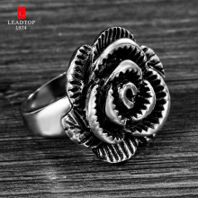 The New Listing Female Stainless Steel Ring Women Jewelry Ladies Rose Flower Fancy Rings