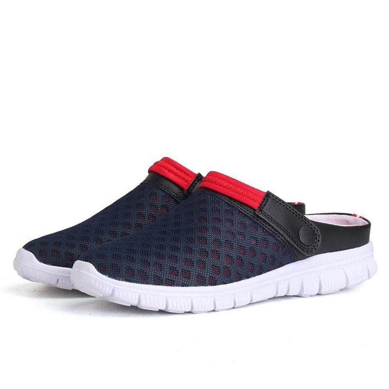 WD20 slippers men shoes Men Summer Sandal Mesh Breathable Padded Beach Flip Flops цена