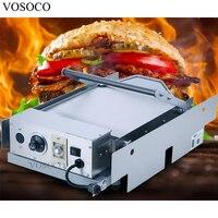 VOSOCO Hamburger Machine 2200W Commercial Bread Roaster KFC MacDonald Electric Double Layer Hamburger Furnace Hamburger Machine
