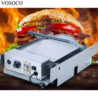 VOSOCO Hamburger Machine 2200W Commercial Bread Roaster KFC MacDonald Electric Double Layer Hamburger Furnace Hamburger Machine