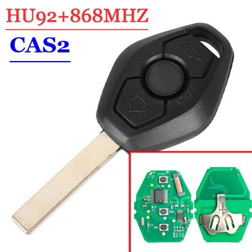 Free Shipping(1 Piece)3 Buttons 868mhz Remote Key For BMW 3 5 7 Series X3 With PCF7942-44 Chip CAS2 System