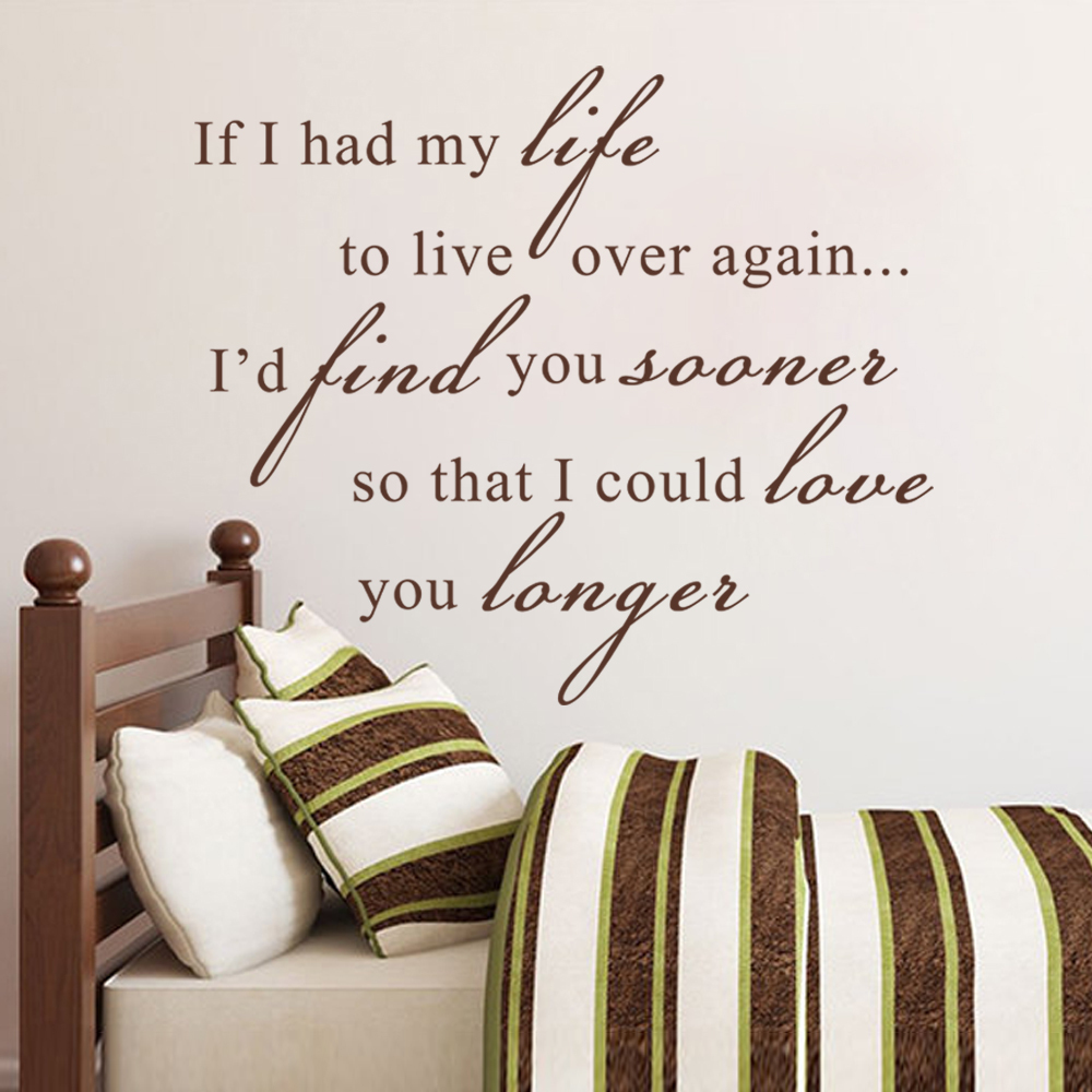 Find You Sooner and Love You Longer -Love Wall Quotes Wall Art / Wall Stickers / Wall Decals 18 x 23S