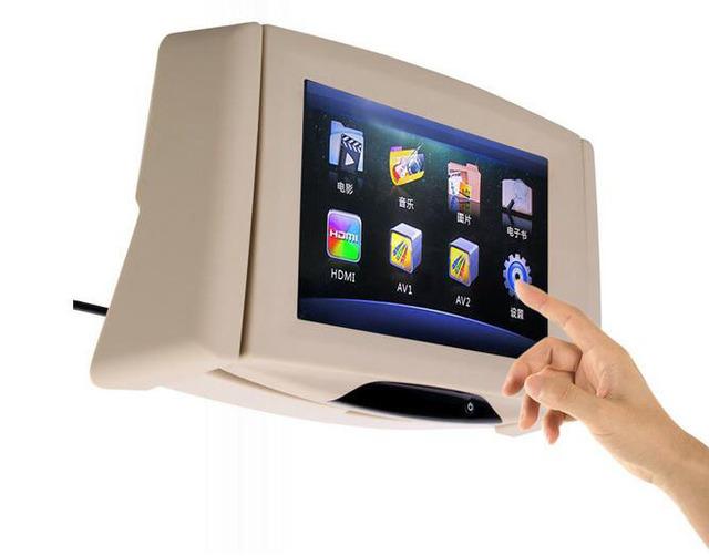 Alta resolución 800*480 pantalla reposacabezas monitor Del Coche pantalla de 9 pulgadas Soporte de TARJETAS SD y entrada de video Dos, car styling