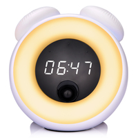 LED Light Alarm Clock Wake up Sunrise Sunset Simulation Multi Function Digital Time Display Touch Sensor Intelligent LED Clock
