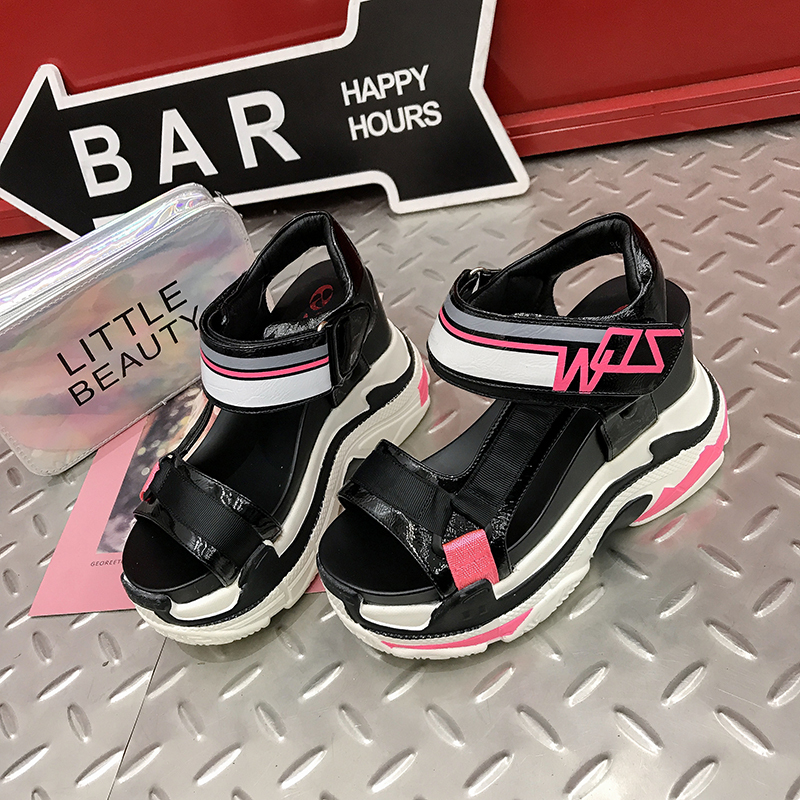 Wedges Female shoes Harajuku buckles High heels 10 CM Thick bottom Leisure lady Rome sandals new model women platform sandalsWedges Female shoes Harajuku buckles High heels 10 CM Thick bottom Leisure lady Rome sandals new model women platform sandals
