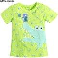 Pequeño experto en la ropa de marca niños 2016 nuevos bebés de moda de verano camiseta de Algodón de cocodrilo bordado tops de marca L059