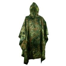 Multifunctional Rain Poncho Raincoat Cycling Climbing Hiking Camping Tent Waterproof  Ghillie Suit Camo Shelter Ground Sheet wwii ww2 palm tree tent army military outdoor tactical camo poncho raincoat de 505114