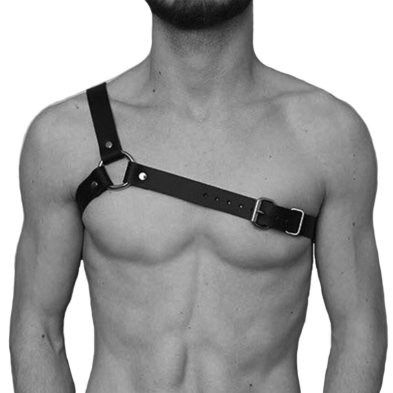 Men Leather Harness Belt Sexy Punk Faux Leather Adjustable Body Chest Harness Body Bondage New Black Belt Leather Suspenders