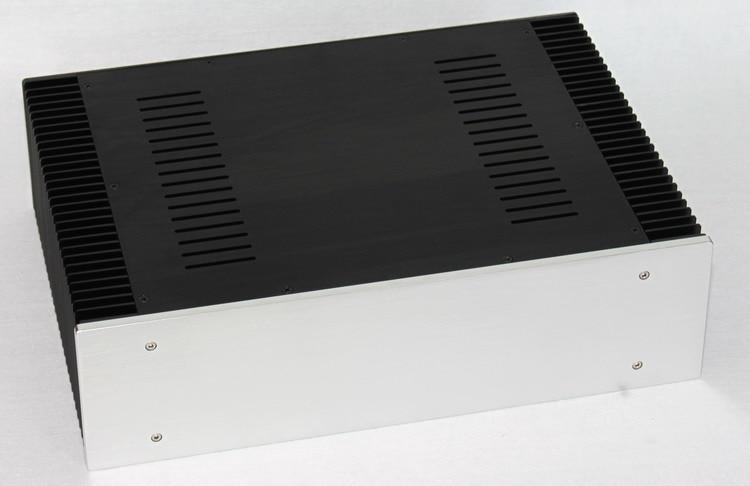 купить All-Aluminum Preamplifier Class A Amplifier Chassis / AMP Shell / Case / DIY Box (430 * 120 * 310mm) по цене 5697.51 рублей