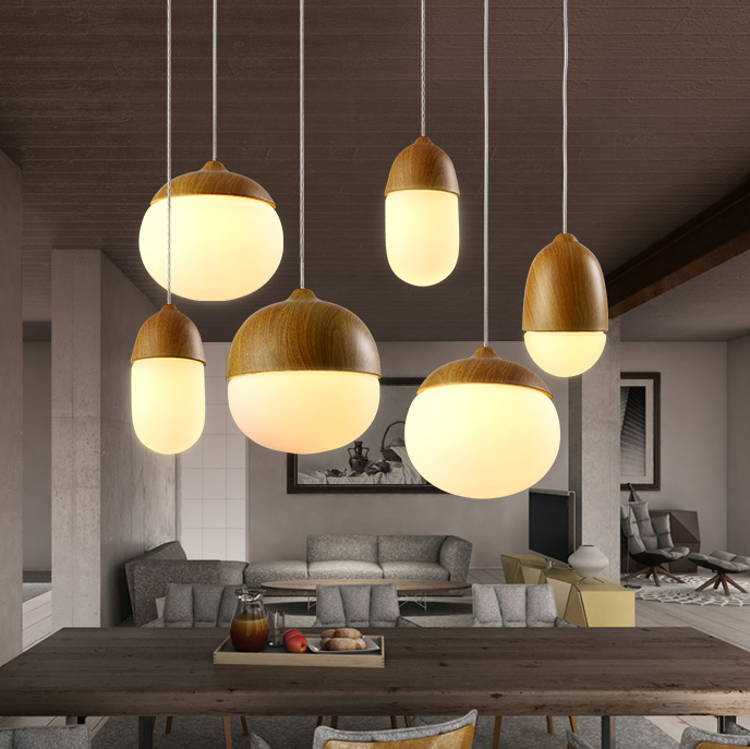Moden European Peanuts Pendant Lights Fixture Bedroom Dining Room Droplights Restaurant Cafes Shops Lamps AC110V 220V