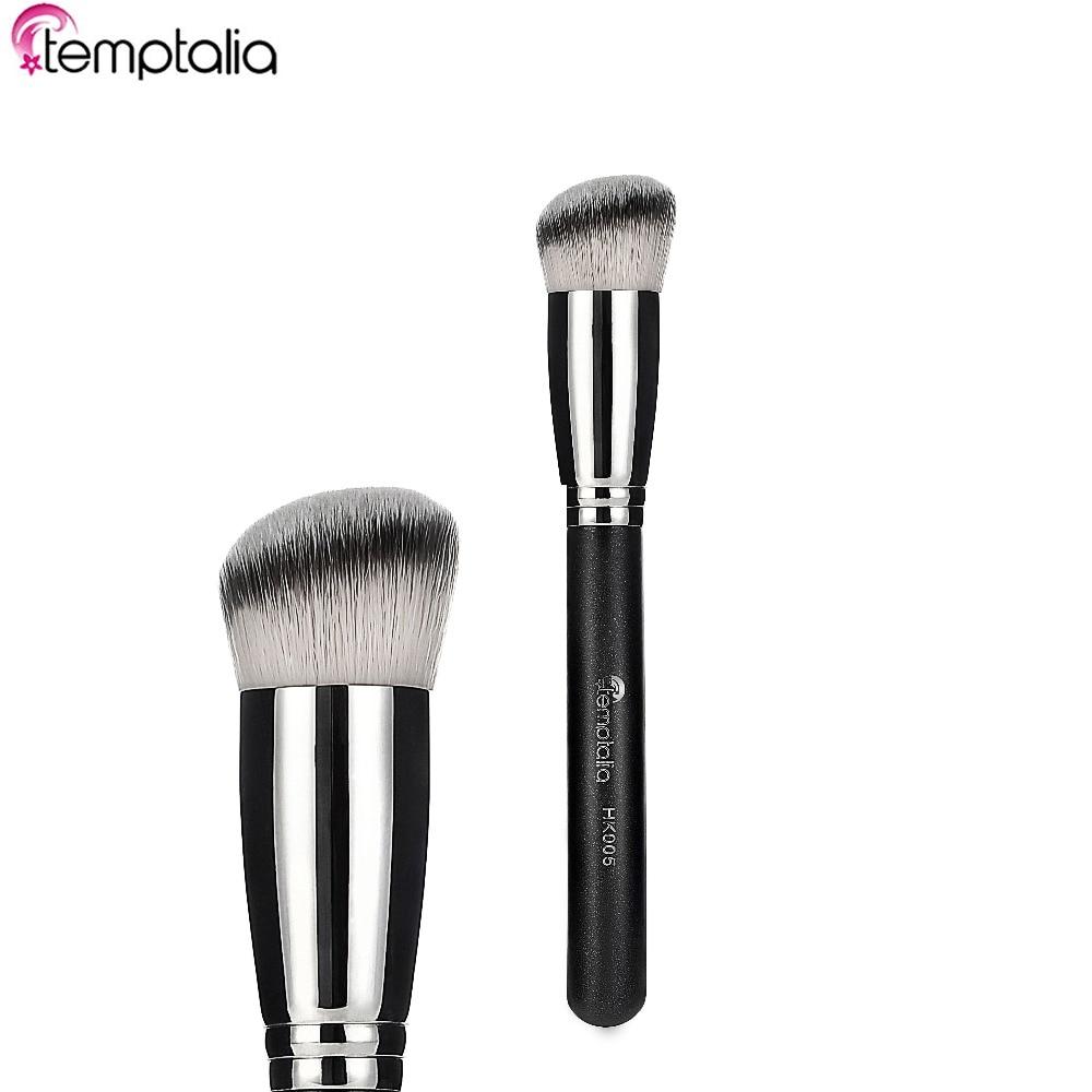 Temptalia brand makeup brushes foundation make up brush eye shadow maquiagem beauty tools six black eye makeup brush brush eye shadow brush black beauty makeup tools