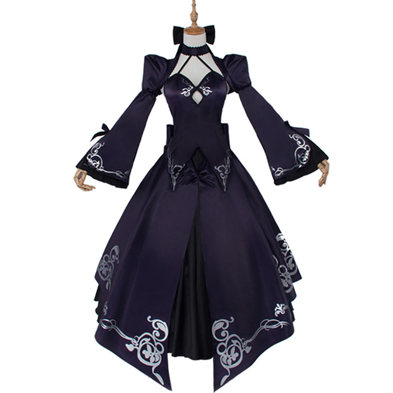 Cosplay Fate Stay Night Costume UBW Arturia Black Dress Saber Wome Cosplay Zero Fate Stay Night Costume Women