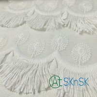 100yards/lot Guipure Lace Fabric DIY Embroidered White Tassel Fringe Net Lace Trim Fabric For Sewing Decoration DHL Shipping