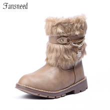 2019 new winter boots Korean version of the rabbit children girls boots non-slip snow boots warm big virgin girls boots(China)