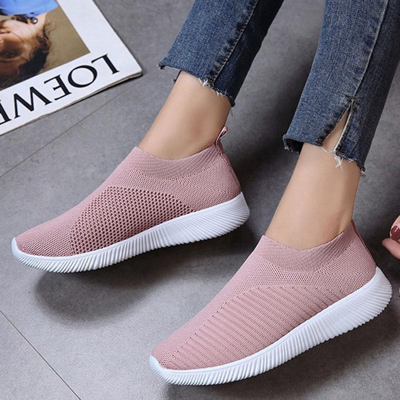 27443bfcb70f22 Tangnest grey Nouveau Femmes Xwd7155 Occasionnels Bout Chaussures Respirant  Printemps Rond Doux Peu pink Maille Black ...