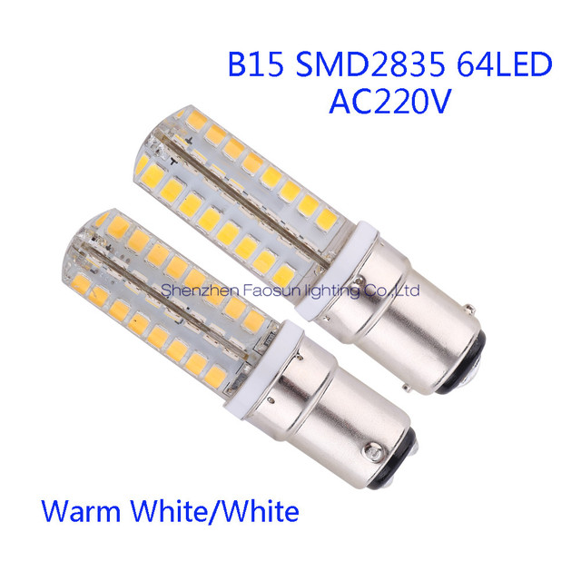 B15 Led Bulb Lamp High Smd2835 64leds Ac220v White Warm Light Replace Halogen Spotlight Chandelier 5pcs Lot