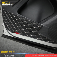 ANTEKE Car door Anti kick pad cover Sitcker decoration trim for Volkswagen Tiguan 2010 2016
