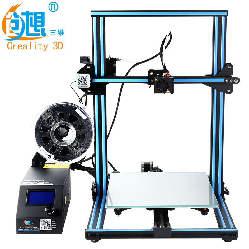 CREALITY 3D Officielles CR-10S/CR-10 DIY 3D Imprimante Kit 300*300*400mm Taille D'impression Double Z tige Filament Détecteur/Capteur Optionnel