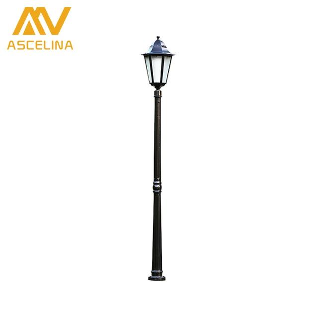 Elegant ASCELINA Antique Garden Light Led Garden Lights Outdoor Lighting Decoration  Waterproof Street Light Lawn Lamps Iron