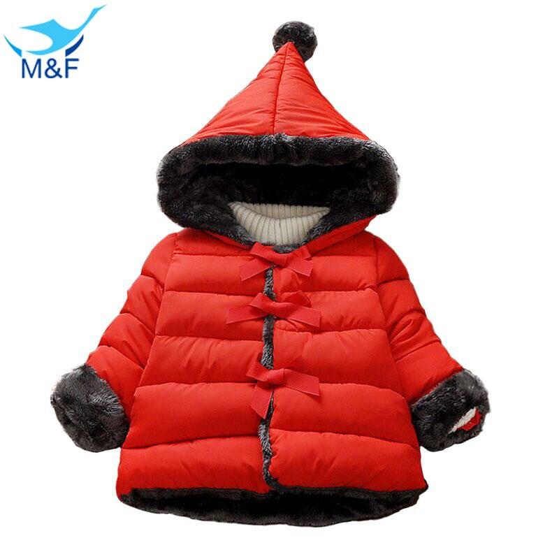 Bebek Coat Kız Kızlar Için 2016 Kış Kore Versiyonu Kapüşonlu Ceket Pamuk Sıcak Kalın Saf Kabanlar Çocuklar Bebek Moda Giyim