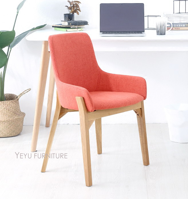 Fashion modern design solid wooden upholstered soft cover - Modern upholstered living room chairs ...