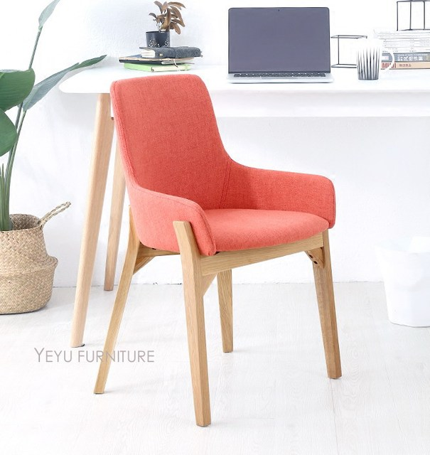 Fashion Modern Design Solid Wooden Upholstered Soft Cover Dining Chair,  Living Room Leisure Furniture Relax