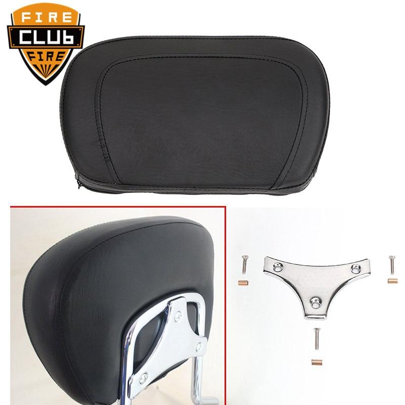 Motorcycle Sissy Bar Detachable Passenger Backrest Pad Models Black&Chrome For Harley Touring FLHRC FLHR FLHX 1997-2017