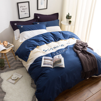 New Fashion Bedding Set 4pcs 3pcs Duvet Cover Sets Soft Polyester Bed Linen Flat Bed Sheet