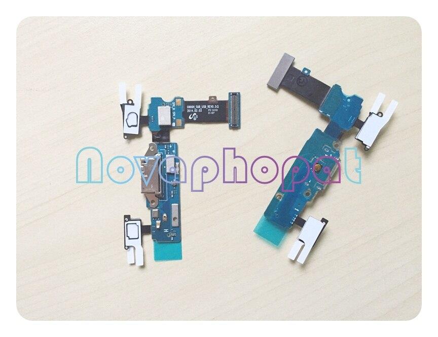 Image 2 - Novaphopat chargeur flexible pour Samsung s5 G900F G900H G900F  chargeur connecteur Micro usb dock port câble flexible Microphone 10  pièces/lotCâbles flexibles pour téléphones mobiles