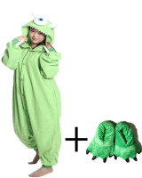 Fantastic Green Monocular Onesie Soft Fabric Sleepwear Lovely Animal Pajamas Whole Novel Paw Shoe Hooded Designs Hot Sales
