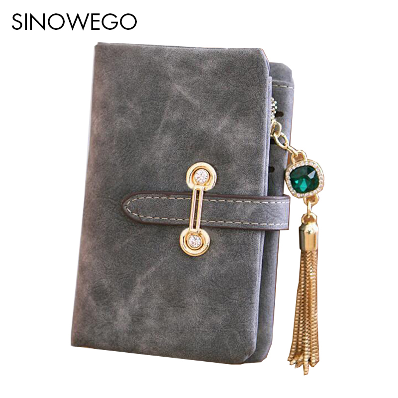 Fashion Luxury Brand Women Wallets Cute Leather Wallet Female Matte Coin Purse Wallet Women Card Holder Wristlet Money Bag Small