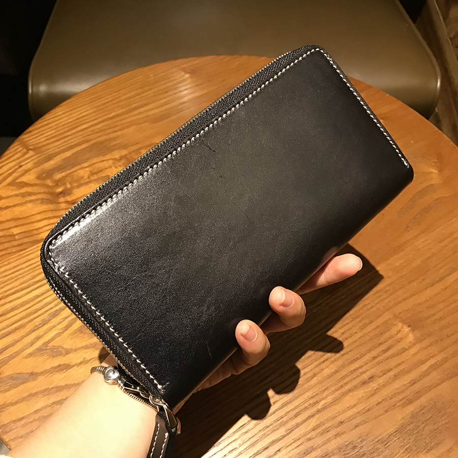 New men genuine Leather purse fashion Handbag double zipper wallet Men Clutch Brand Luxury business casual bag curewe kerien brand men s genuine leather long zipper purse business wallet handbag
